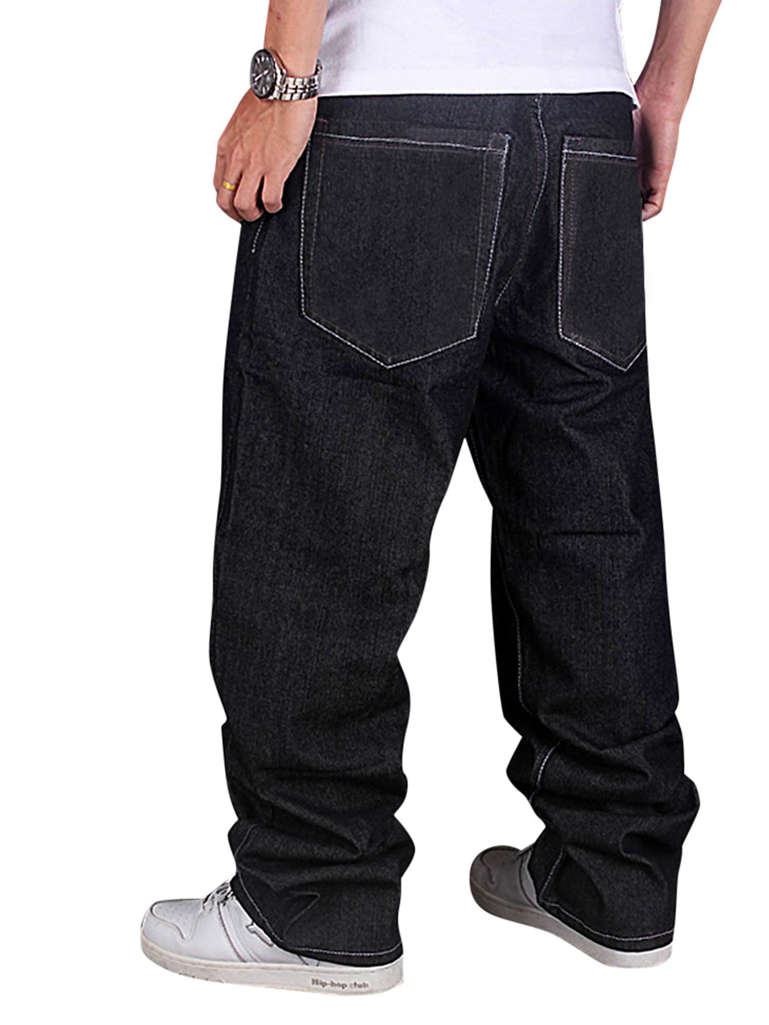 6ffd2c19 Men's Jeans Baggy Loose Denim Hip-Hop Rap Skateboard Pants Streetwear