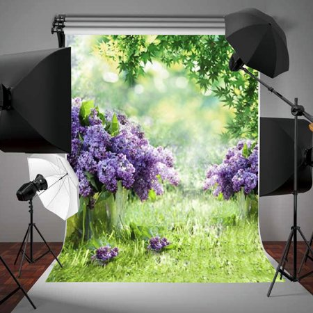 3x5FT Easter Photography Background Spring Outdoor Flowers Backdrop Studio Photo Props - Photo Back Drop