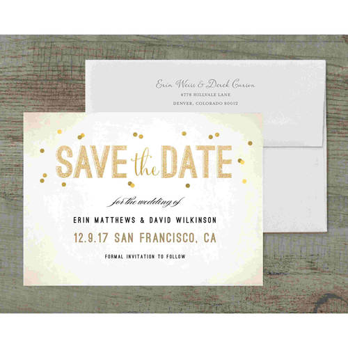 Sparkling Deluxe Save the Date