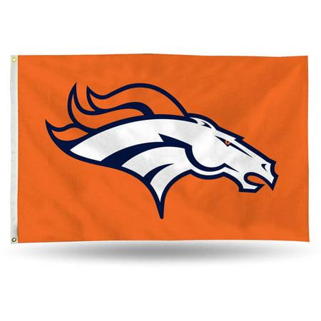 Rico Industries NFL 3' x 5' Banner Flag, Denver Broncos (Denver Broncos Decorations)