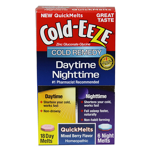 Cold-Eeze Daytime And Nighttime Quickmelt, Mixed Berry - 24 Ea