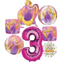 Princess Rapunzel Party Supplies 3rd Birthday Orbz Balloon Bouquet Decorations