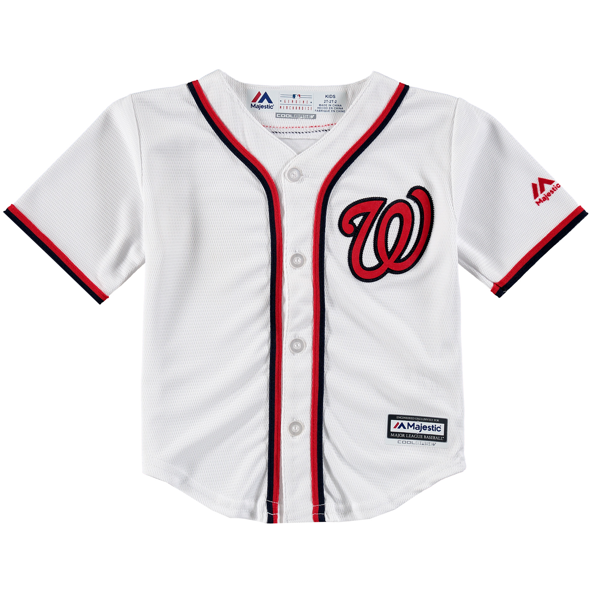 Washington Nationals Majestic Toddler Official Cool Base Jersey - White