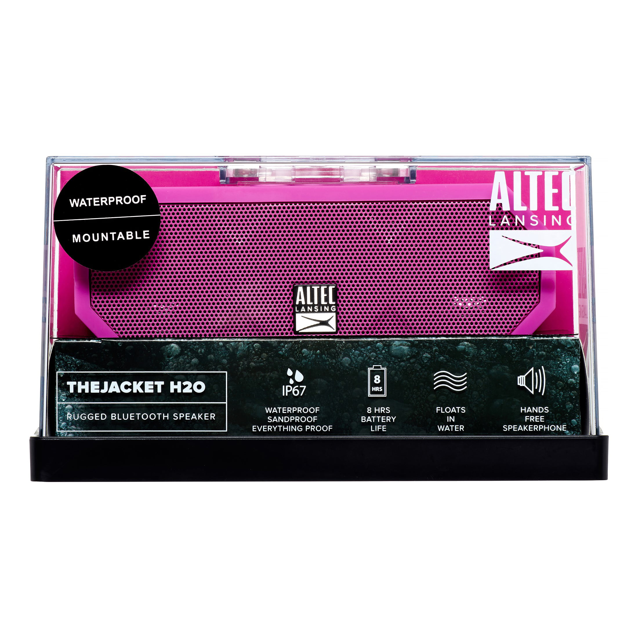 Altec Lansing IMW457- PP Jacket H2O Bluetooth Wireless Speaker,?Pink by Altec Lancing