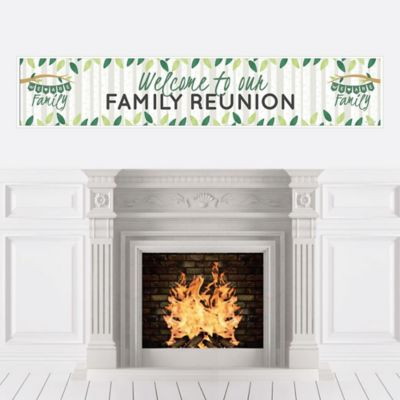 Family Tree Reunion - Family Gathering Party Decorations Party Banner (Family Decorations)