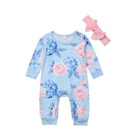 Canis Newborn Infant Kid Baby Girl Bodysuit Romper Jumpsuit Outfit Clothes Set