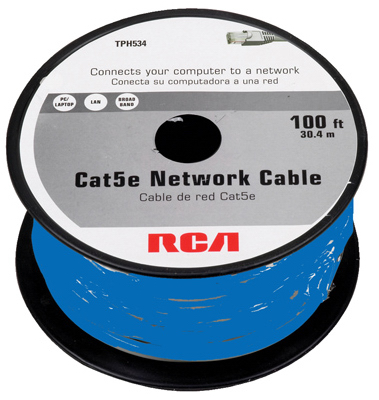 AUDIOVOX Cat5e Network Cable, 100-Ft.
