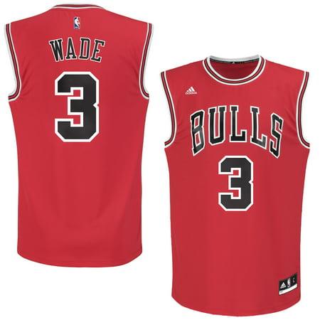 (Men's Chicago Bulls Dwyane Wade adidas Red Replica Jersey-S)