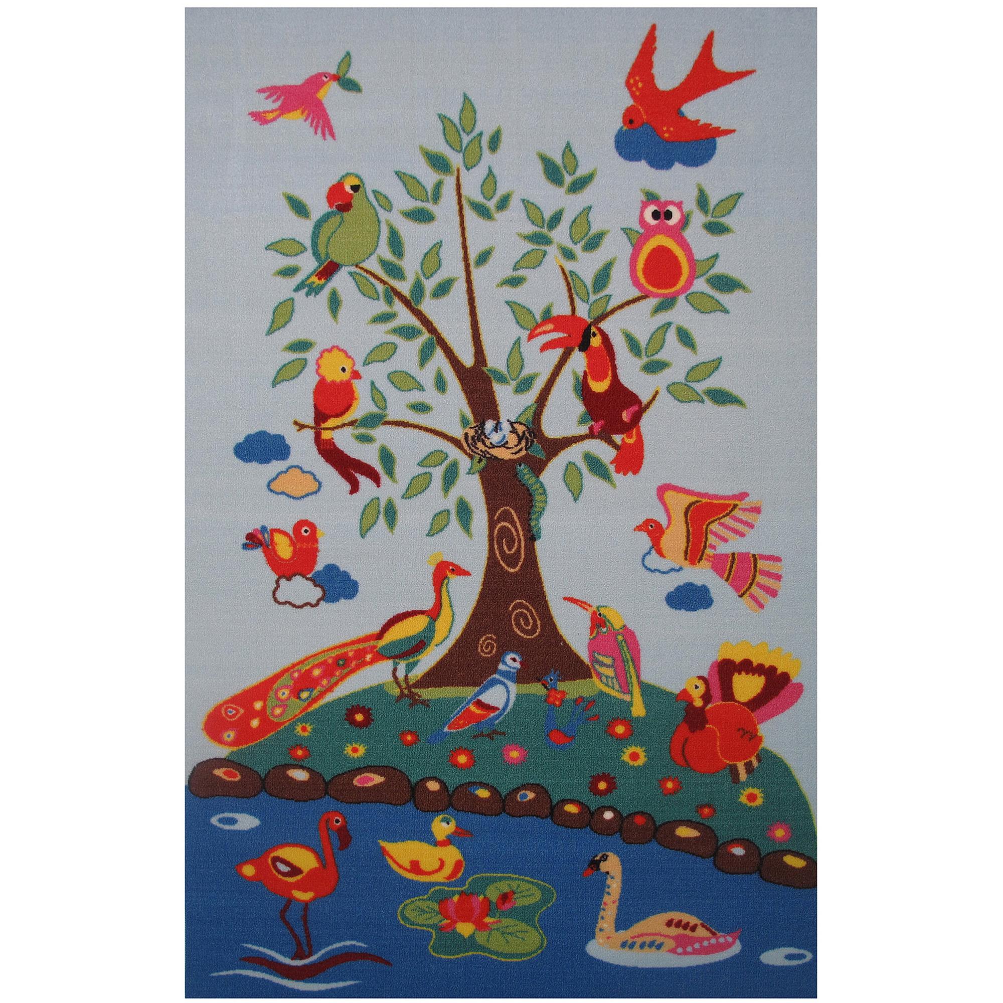 "Fun Rugs Birds of Paradise 51"" x 78"" Rug"