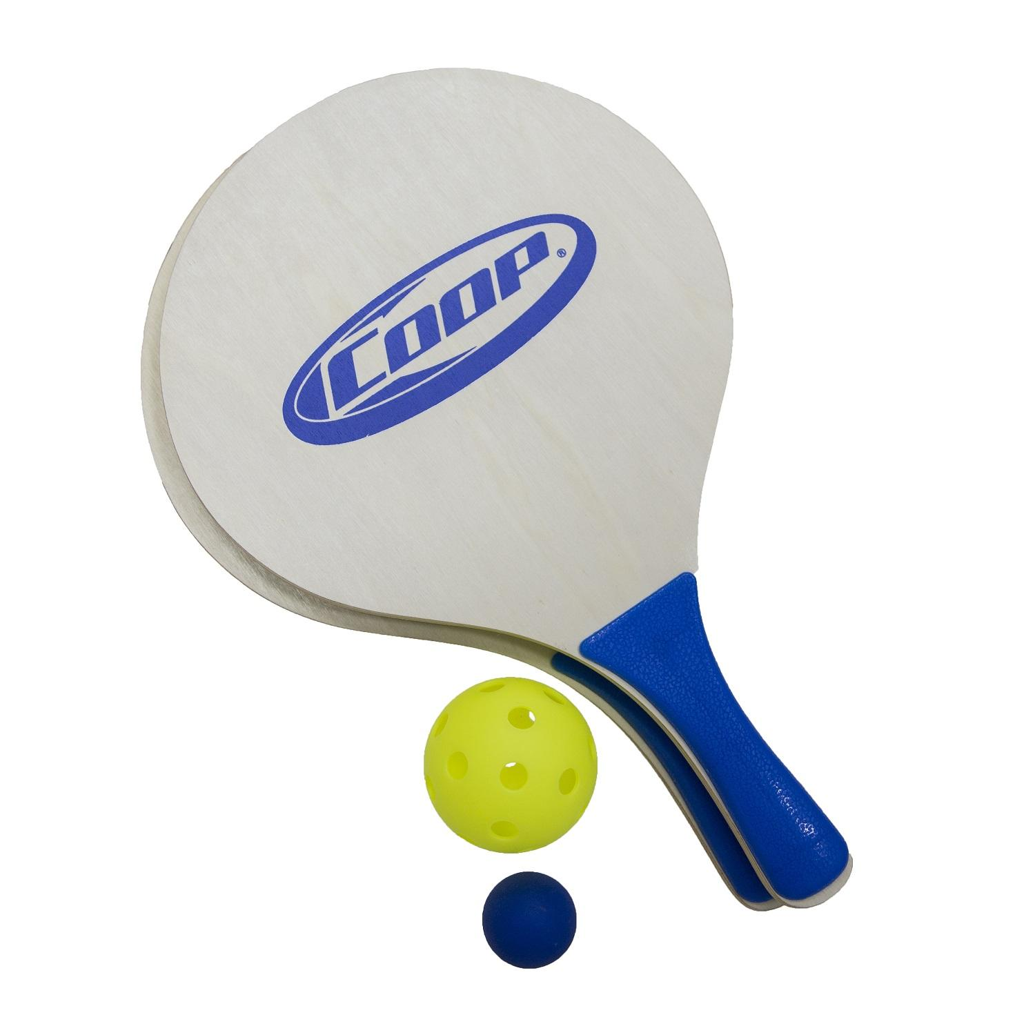 Paddle and Yellow Pickle Ball Classic Outdoor Yard Game