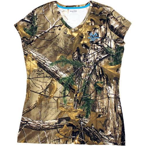 Women's Short Sleeve Camo Tshirt, Xtra