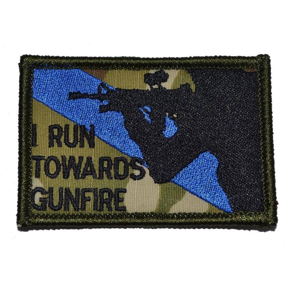 I Run Towards Gunfire - 2x3 Patch
