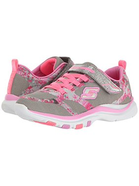 47a29e8f4df6 Product Image Skechers BRIGHT RACER Girls Gray Pink Trainer Lite Lace Up  Shoes