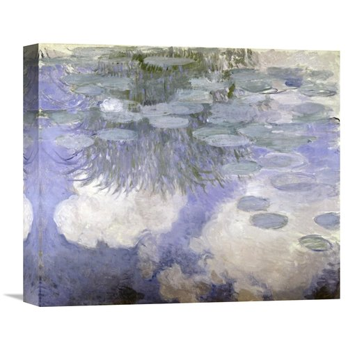 Global Gallery 'Water Lilies (Nymphaeas) III' by Claude Monet Painting Print on Wrapped Canvas
