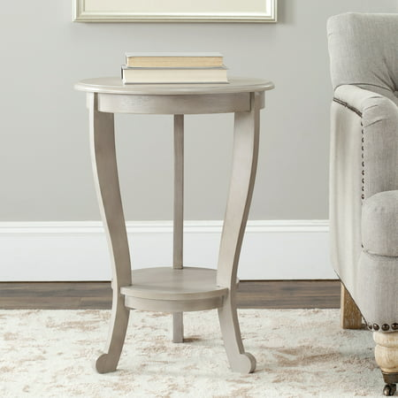 Solid Wood Pedestal (Safavieh Mary Solid Rustic Tri-Leg Pedestal Side)