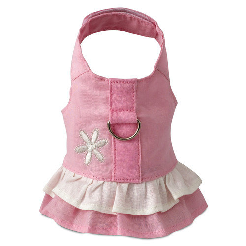 616861 Harness Dress, Hemp Teacup Pink with Flower