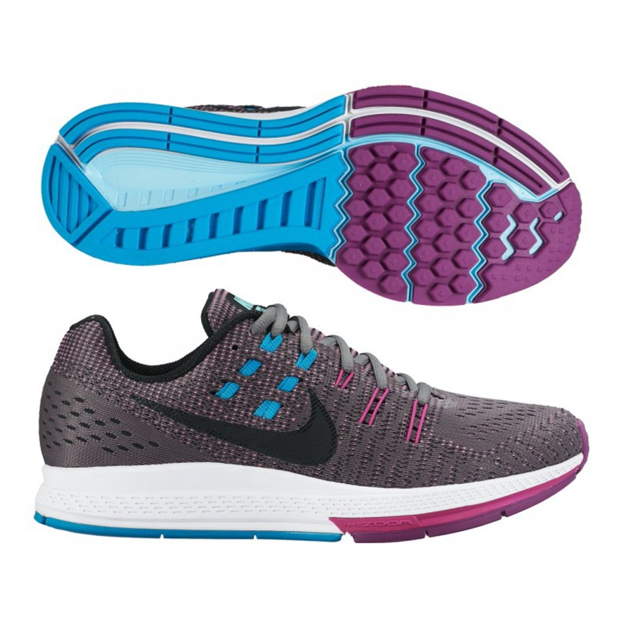 competitive price 230e4 068ee Nike Womens Air Zoom Structure 19 Cool Fabric Low ...