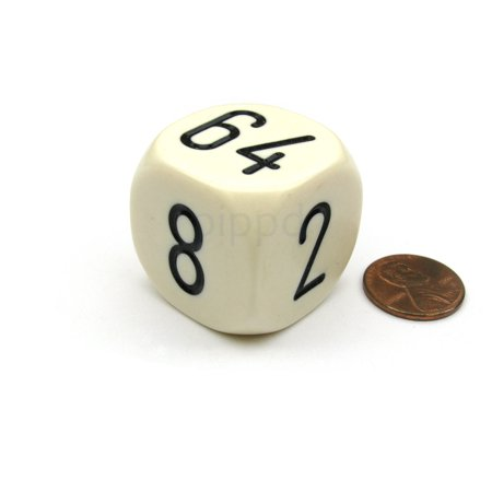 Koplow Games Large Backgammon 30mm Doubling Cube Dice - Ivory #08806