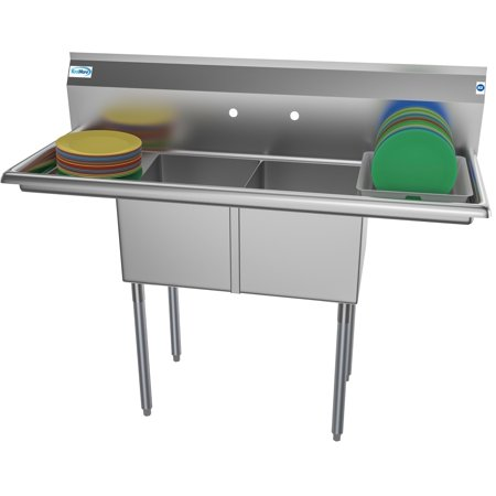 Compartment Bar Sink - 2 Compartment 52