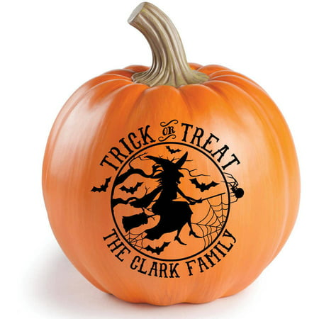 Personalized Happy Halloween Or Treak Or Treat Resin Tabletop Pumpkin