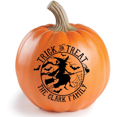 Personalized Happy Halloween Or Treak Or Treat Resin Tabletop - Happy Halloween Pumpkin Design