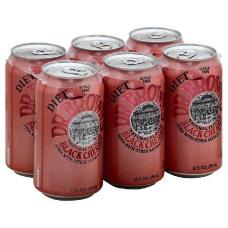 Dr Browns Caffeine Free Diet Black Cherry Soda, 72 Oz (Pack of 4) (Caffeine Free)