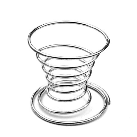 Metal Egg Cup Spiral Kitchen Breakfast Hard Boiled Spring Holder Egg (Best Time To Peel A Hard Boiled Egg)