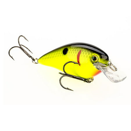 Strike King Lures Kvd Square Bill Hard Lure Model 1 5 2 Body Length 3 Depth Black Back Chartreuse Per