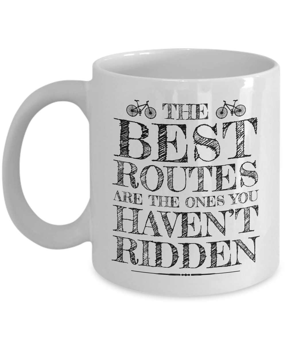 The Best Routes Pencil Sketch Art Coffee Tea Mug For Men Women Cyclist 11oz Walmart Com Walmart Com
