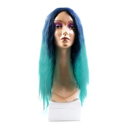 "25.2"" Length Synthetic Brazilian Women Loose Wavy Hair Extension Wigs Mint Green - image 1 de 5"
