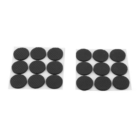 Family Living Room Furniture Table Chair Protection Cushion Pads Black 18pcs - image 1 of 1