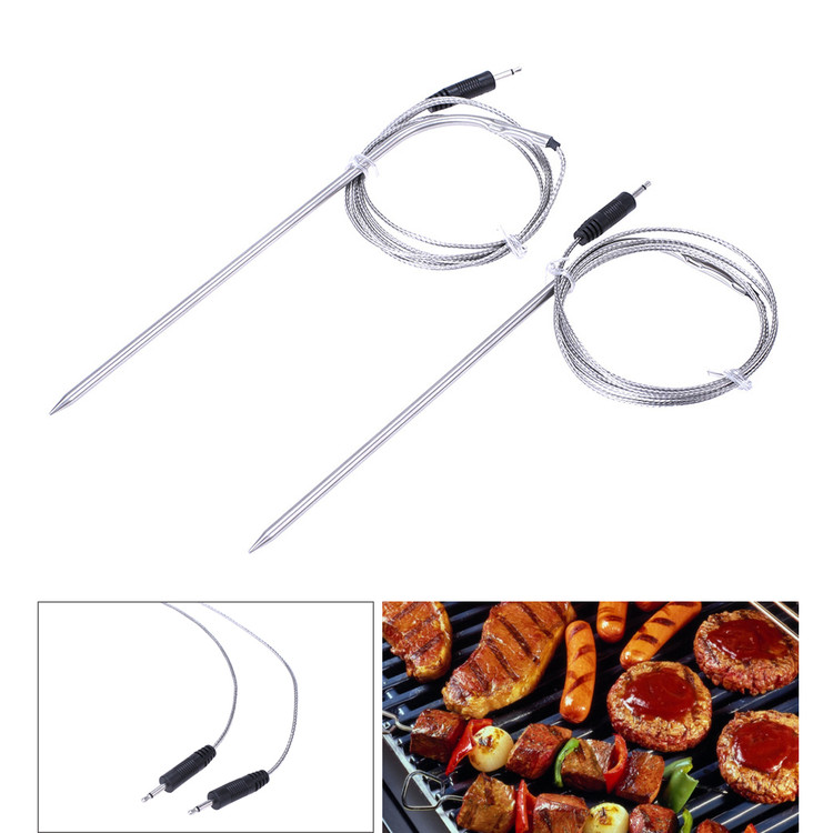 39.4'' Stainless Steel Meat Thermometer Probe for Oven Grill and BBQ