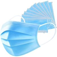 25 unit Disposable Face Masks 3 Ply Non-Woven Fabric Soft & Comfortable Safety Cover Guard against unseen airborne substances, Pollen, Smoke, Air Pollution, etc.