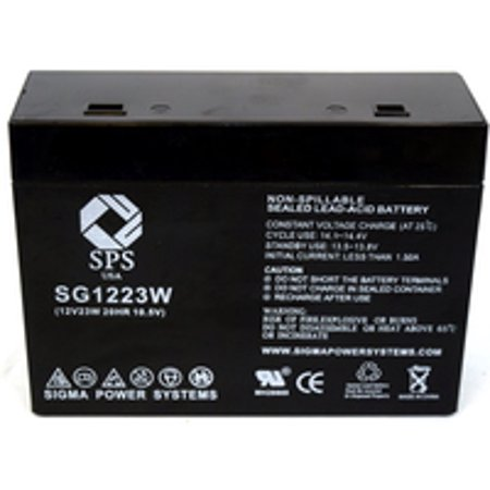 Sps Brand 12 V 5 Ah  Terminal T1t2  1223W Replacement Battery For Cyberpower Systems Power99 Cps450va  1 Pack
