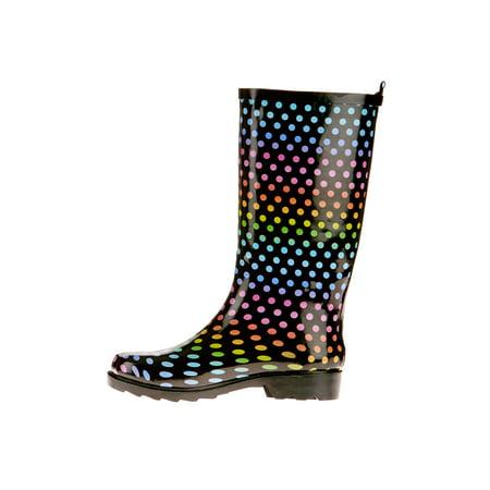 Time and Tru Women's Print Rain Boot
