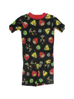Little Boys Black Allover Bird Face Print 2 Pc Sleepwear Set 6