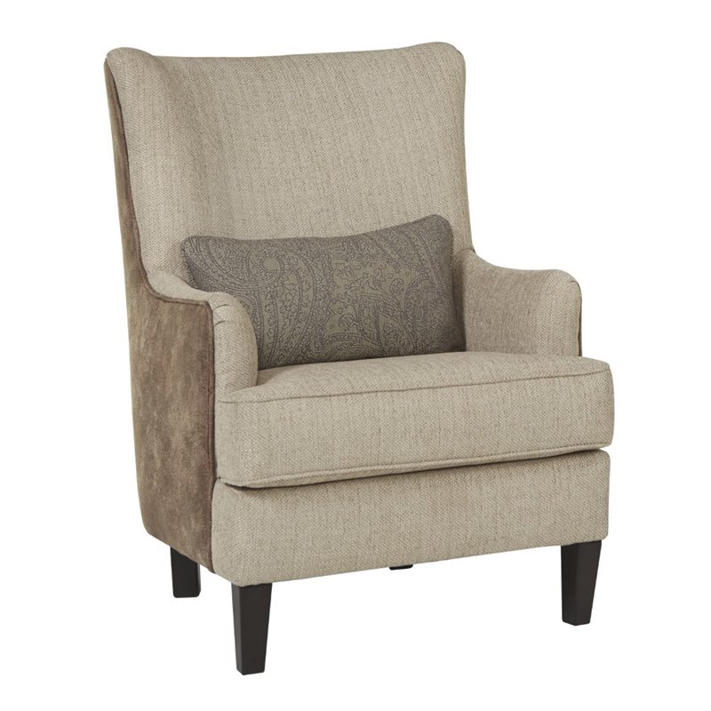 Ashley Baxley Accent Faux Leather Chair in Jute Walmartcom