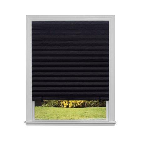 "Original Blackout Pleated Paper Shade Black, 36"" x 72"", 6-Pack, Trim ..."