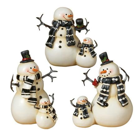 Resin Coupled Snowmen Figurines (Set of 3) ()