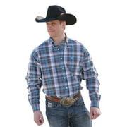 Cinch Western Shirt Mens Long Sleeve Plaid Weave White Gray MTW1104121