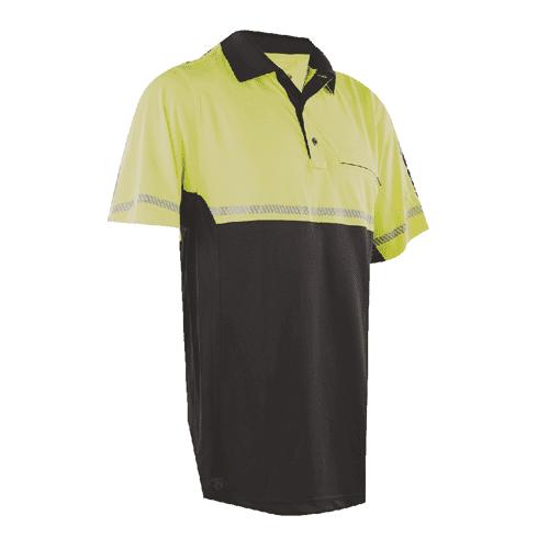 Tru Spec 24 7 Bike Performance Polo Shirt w/Reflective Tape HiVis Ylw XL 4324006
