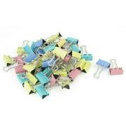 48 x Assorted Color Metallic Office Paper Binder Clips Tool