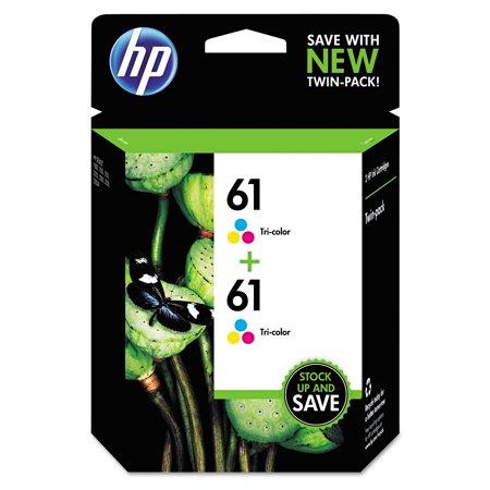HP 61 Tri-color Original Ink Cartridges, Twin Pack (CZ074FN)