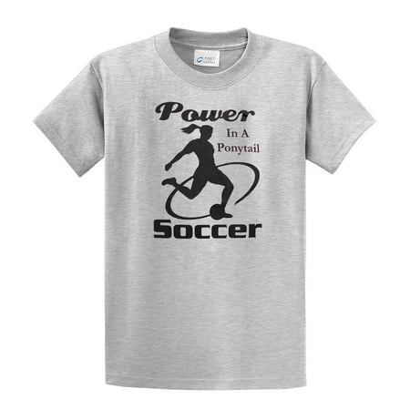 - Soccer T-Shirt Power In A Ponytail Black Imprint Youth