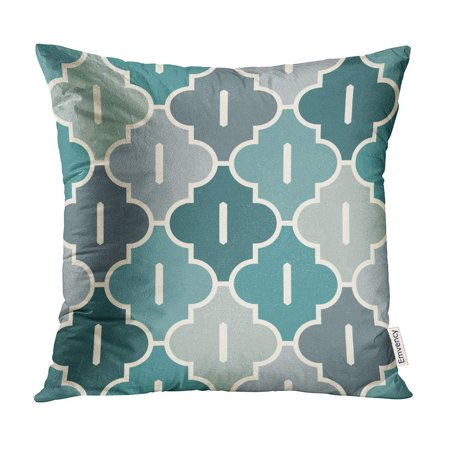 Mosaic Cross (ECCOT Oriental Traditional Pattern Ogee Maroccan Crosses Mosaic Tiles Lantern Shapes Tracery Pillow Case Pillow Cover 18x18)