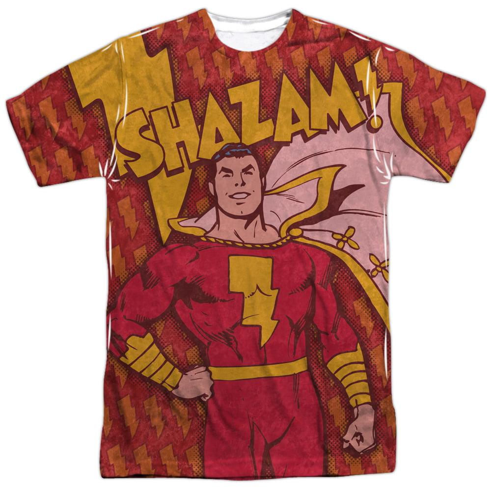 Comics Detective Comics Retro Captain Marvel Shazam Adult Front Print T-Shirt
