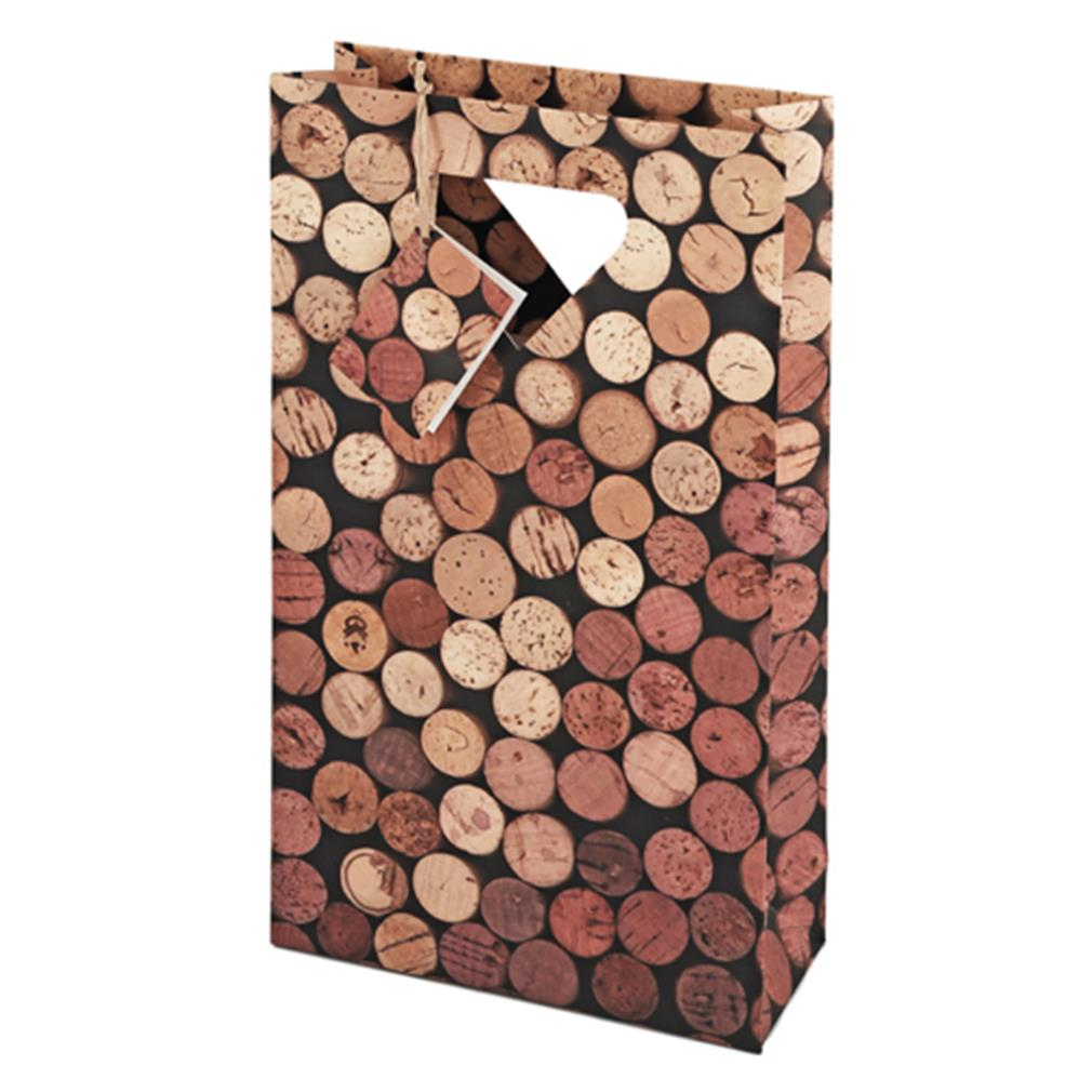 2-Bottle Corks Wine Bag