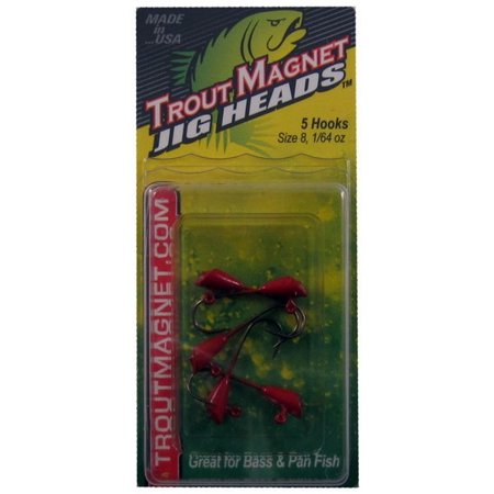 Leland Lures 14084 Size 1/64 Ounce Red Trout Magnet Jighead