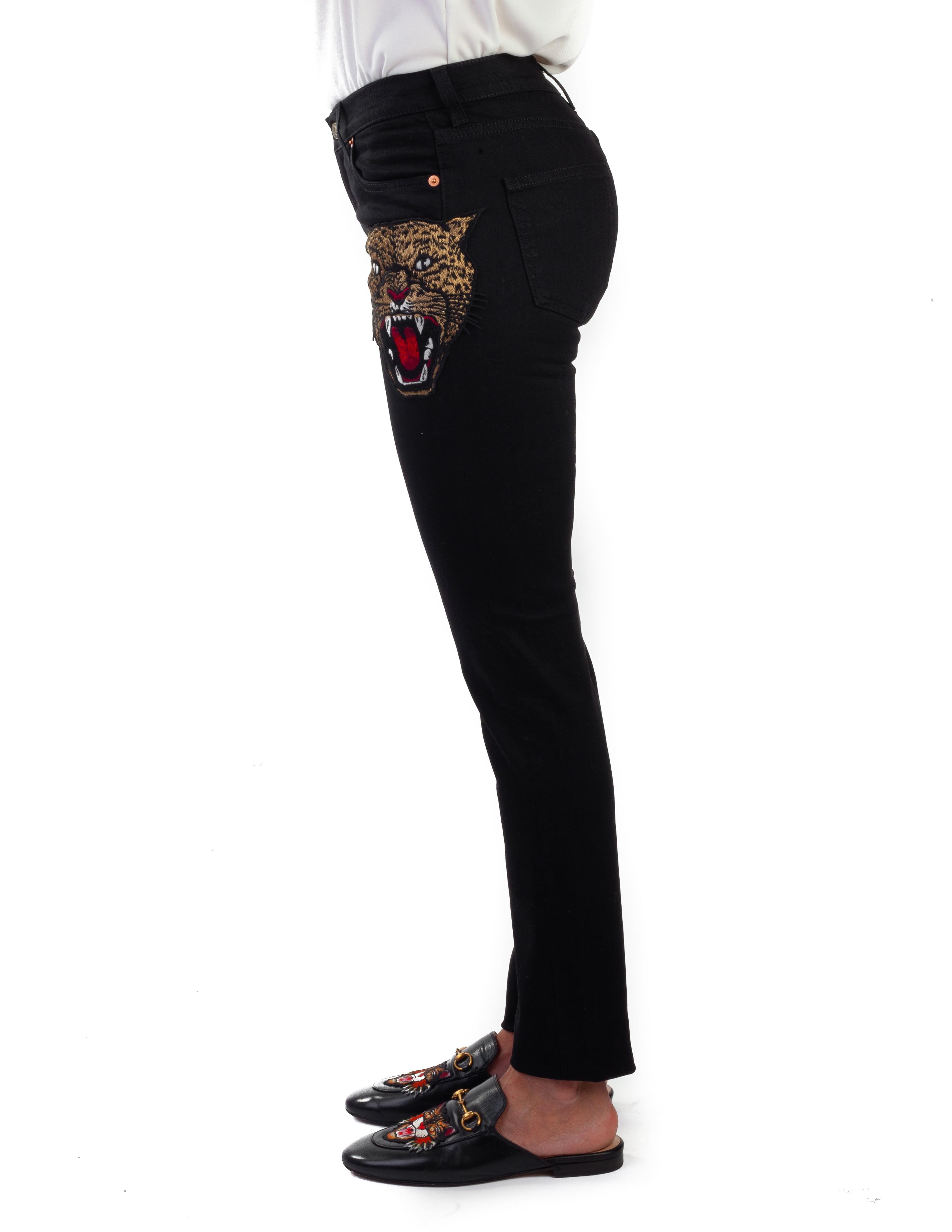 super popular 9f551 c6f21 Gucci - Gucci Women's Cotton Embroidered Tiger Applique ...