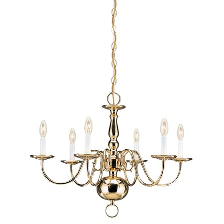 Sea Gull Lighting Traditional 3411-02 6-Light Chandelier - 23.5 diam. in. - Polished Brass